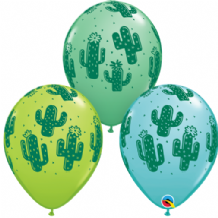 Cactuses Balloons - 11 Inch Balloons 6pcs
